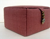Pure silk jewelry storage box, trinkets box or decorative storage box