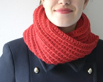 Chunky Cowl Neck warmer Infinity Scarf Winter Accessories Unisex Neck Warmer Cross
