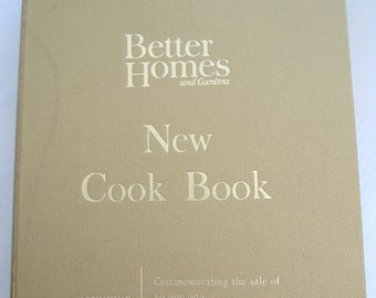 Better Homes and Gardens New Cook Book Souvenir Edition, 1965