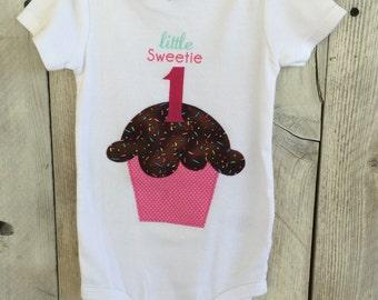 18 Month Cupcake 1st/ First Birthday Bodysuit