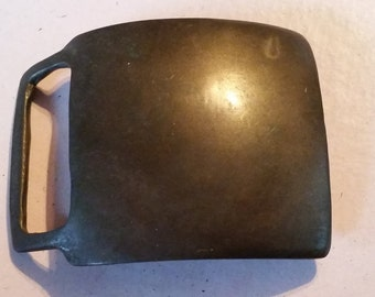 Vintage Kutner Rounded Square Belt Buckle Brass Accessory