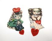 Vintage Kitten & Puppy Valentine's Day Cards - unused