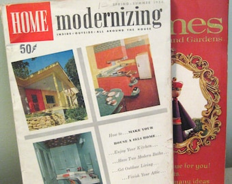 Vintage Magazines Better Homes And Gardens and Home Modernizing