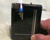 Vintage Case Lighter Art Deco Case Lighter Black Cigarette Case 1930s Magic Case Cigarette Working