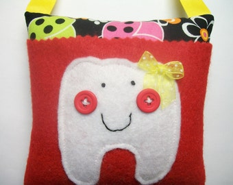 Girls Tooth Fairy Pillow Ladybugs