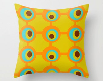 Modern Pillow Cover, Mid Century Modern Pillow Cover, Decorative Pillow Cover, Geometric Pillow Cover, Pillow Cover