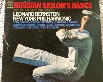 Vintage Vinyl Record / New York Philharmonic Leonard Bernstein - Russian Sailor's Dance and Other Dazzling Dances 1966