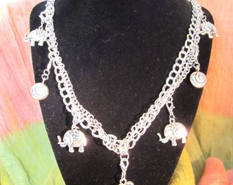 Cute Elephant Charm Necklace