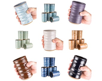 Wheel thrown pottery tumblers in your choice of 9 colors. Mix or match your set! Sold individually. MADE TO ORDER >up to 4 wk turn around