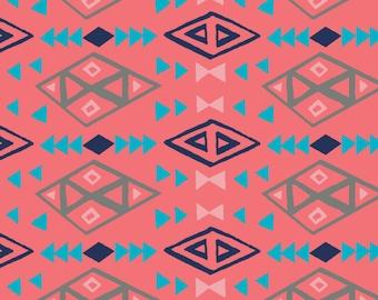 SALE Coral Tribal Nursing Pillow Cover