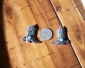 Patina swirl cowboy boot charms