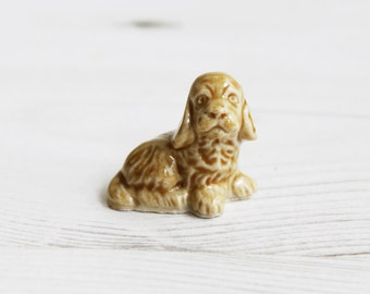 Wade Whimsies - Cocker Spaniel Dog Pound Red Tea  - Miniature Figurine