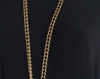 Pretty 18 Gage Genuine Brass Ladder Chain ID Lanyard