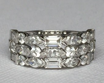 14k White Gold and CZ Ring
