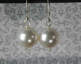 Large Swarovski Pearl Earrings