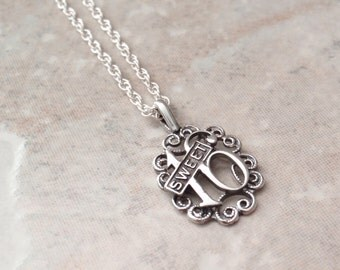 Sweet Sixteen Necklace Sterling Silver Vintage BC0104