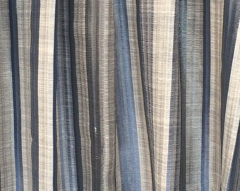 Blue Stripes Curtain Drapes Curtain Panels Custom Curtains Window Curtains Valance Bedroom Curtains Window Treatment Door Curtains For Sale