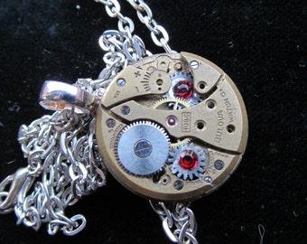 Steampunk Watch Movement Necklace Pendant A 30