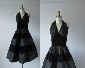 vintage 1950s dress / 50s dress / Midnight Rhumba