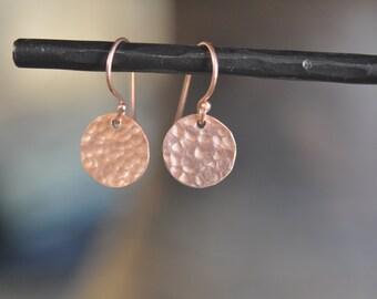 Medaillon Earrings Rose Gold