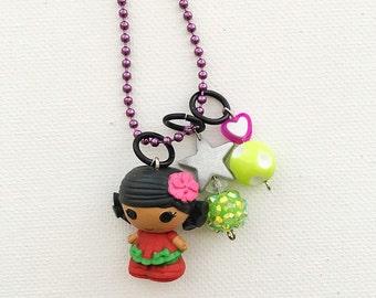 Lalaloopsy Mango Tiki Wiki Series 3 Charm Necklace
