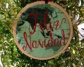 Feliz Navidad Map Ornament