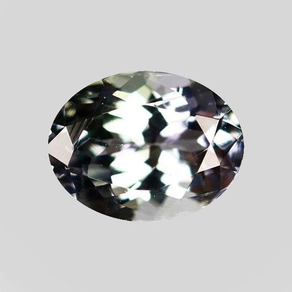 Colour Tanzanite: TANZANITE 20571 Multi-Color Blue & Green Oval Cut Blue