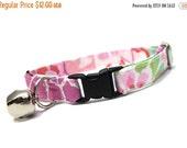 ON SALE Pink and Purple Flower Burst Cat Collar