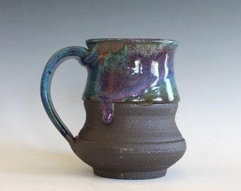 Pottery Coffee Mug, 14 oz, unique coffee mug, handmade ceramic cup, handthrown mug, stoneware mug, wheel thrown pottery mug, ceramics