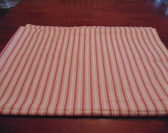 Waverly large fabric piece,  Candy Stripe,  pink and off white