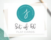 Upgrade to a Set of 50 Flat Stationery Cards