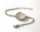 sterling silver heart bracelet , valentine gift bracelet,filigree lace bracelet