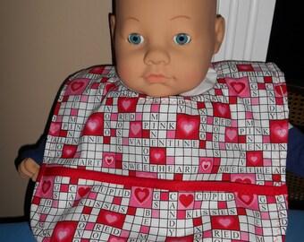 Valentine's Crossword Puzzle Baby Bib