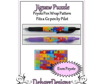 Bead Pattern Peyote(Pen Wrap/Cover)-Jigsaw Puzzle