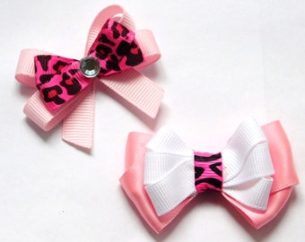 Dog Bows for dogs hair Hair bows for dogs Dog Grooming Bows Pink dog bow