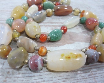 Polished Agate Necklace