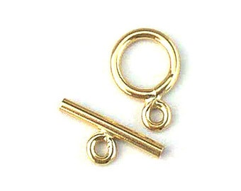 14K Gold Filled Toggle Clasp 8mm or 12mm