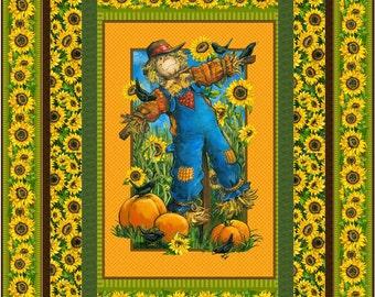 Sunny Daze Quilt Kit, 4864-0, lap quilt kit, sunflower quilt kit, panel lap quilt kit, scarecrow quilt