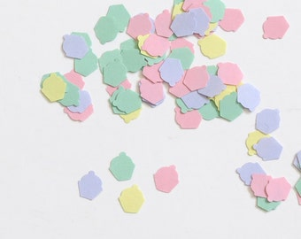 Cupcake Confetti 800 Pieces Pink Yellow Lavender Green