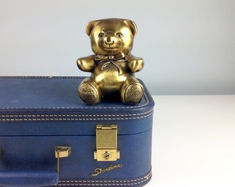 Vintage Brass Bear Figurine - Heavy Brass Teddy Bear, Nursery Decor, Babies Room, Baby Room Decor, Baby Shower Gift