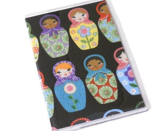 Passport Cover Matryoshka Dolls