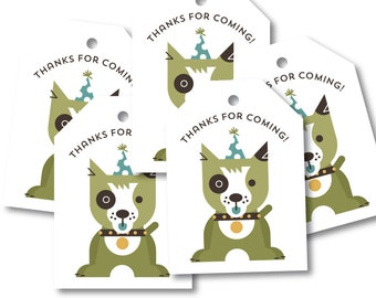 Puppy Favor Tags, Birthday Party Décor // PUPPY PARTY