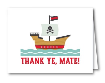 Thank You Card, Birthday Party // PIRATE SHIP