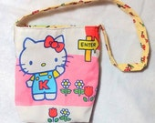 Hello Kitty little girls upcycled  kawaii style purse