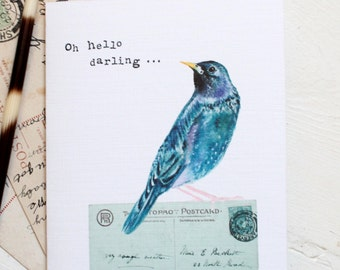 Oh hello darling Starling card
