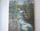Vintage Oil Painting - River Landscape
