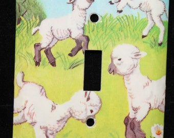 Lamb My Little Book of Farm Animals Switch Plate Wallplate Light Cover