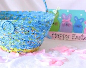 Girl easter basket handmade flower girl basket 6h cute boy easter basket handmade blue easter bucket keepsake baby boy easter basket easter negle Images