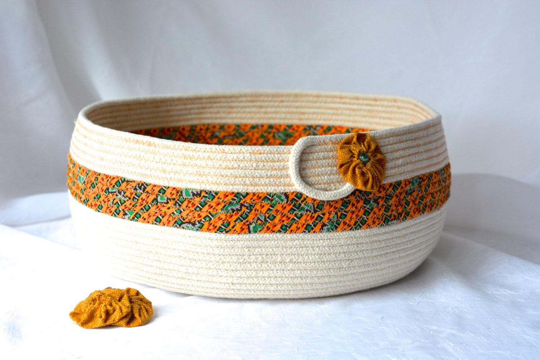 Handmade Rope Basket : Abstract rope basket handmade fiber brush holder
