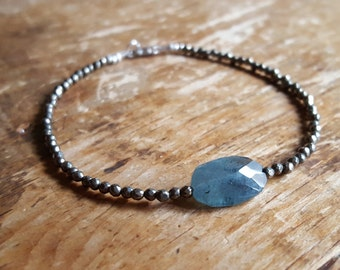 Aquamarine Bracelet Moss Aquamarine Bracelets Pyrite March Birthstone Bracelet Beaded Bracelets Moss Aquamarine Gemstone Jewelry Womens Gift